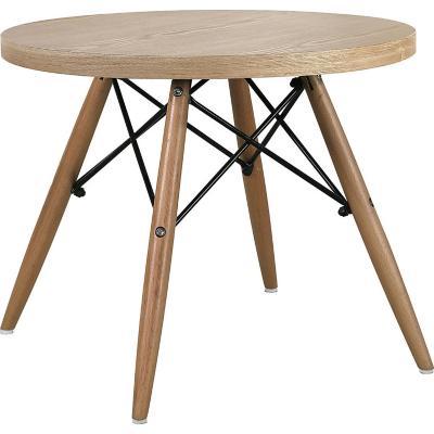 Mesa redonda 55x60x60 cm color madera
