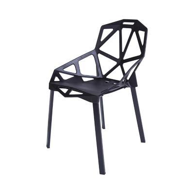 Silla 81x55x59 cm negra