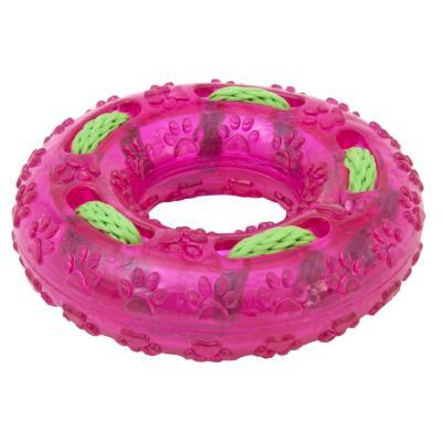 Donut con cuerda resistente para perros, fucsia
