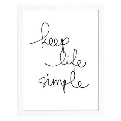 Cuadro 40x50 cm marco frase keep life simple