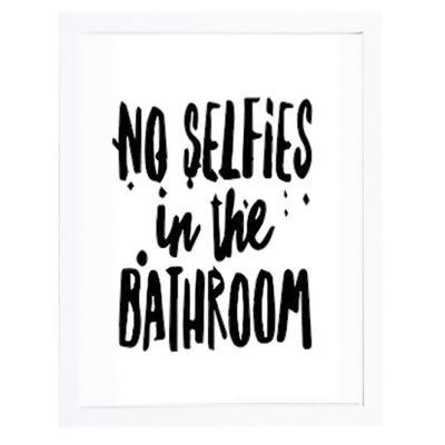 Cuadro 40x50 cm marco  frase no selfies