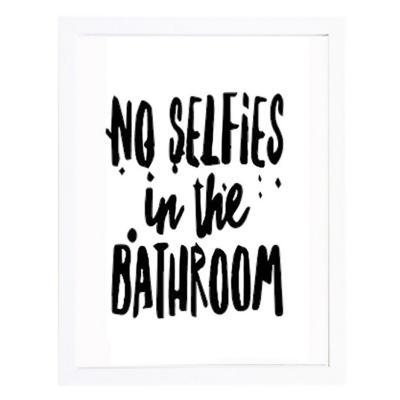 Set 2 cuadros 30x40 cm marco  frase no selfies