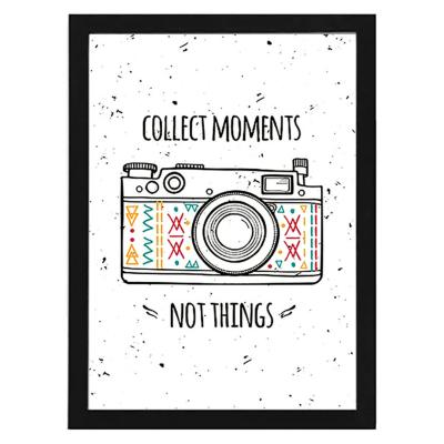 Cuadro 40x50 cm marco  frase collect moments