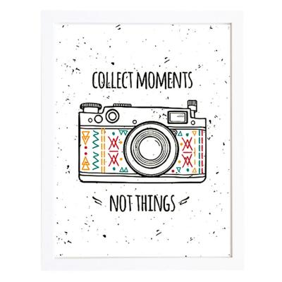 Cuadro 30x40 cm marco  frase collect moments