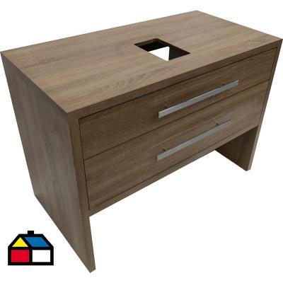 Mueble tender 100x52x85 cm dark pine sin lavamanos