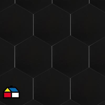 Cerámica negro 20x23 cm 1 m2