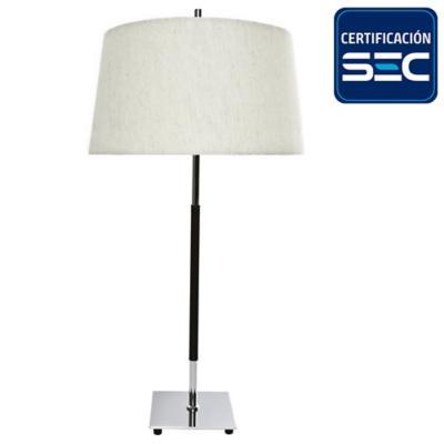 Lámpara de mesa argus cromo 2 luces E27 40W