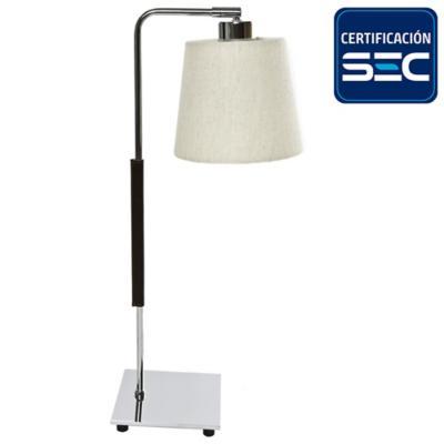 Lámpara de mesa ele cromada E27 40W