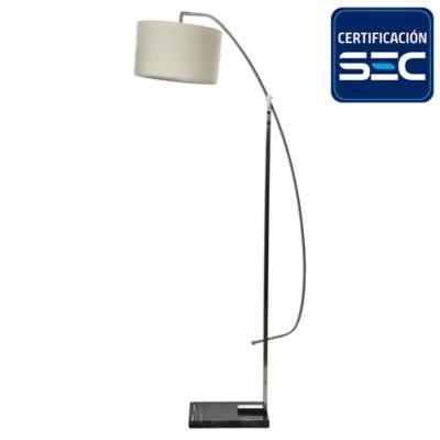 Lámpara de pie acero E27 40W