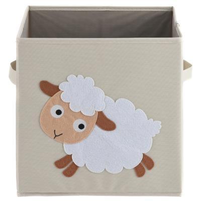 Cubo plegable 30x30x30 cm oveja