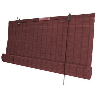 Cortina enrollable bambú 120x220 cm caoba