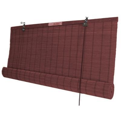 Cortina enrollable bambú 140x220 cm caoba
