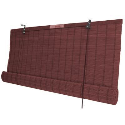 Cortina enrollable bambú 150x220 cm caoba