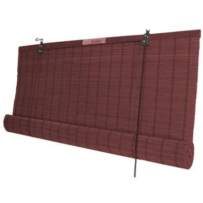Cortina enrollable bambú 60x220 cm caoba
