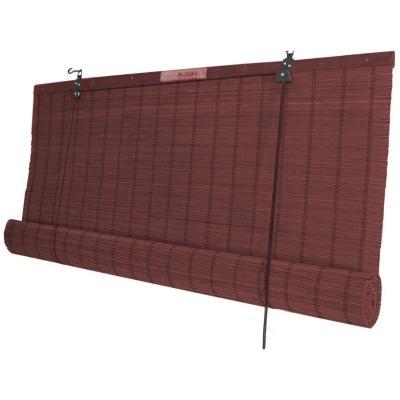 Cortina enrollable bambú 160x220 cm caoba