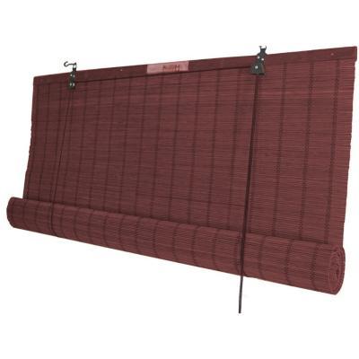 Cortina enrollable bambú 180x220 cm caoba