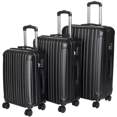 set 3 maletas abs color negro