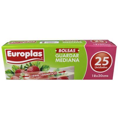 Bolsa hermetica europlas 18x20 cm  25 unidades