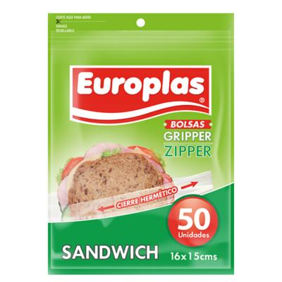 Bolsa hermetica europlas sandwich 50 unidades