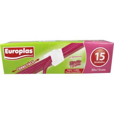 Bolsa hermetica europlas cierre facil 20x15 cm
