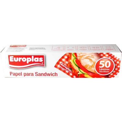 Papel  europlas sandwich 30x30 cm 50 lamina