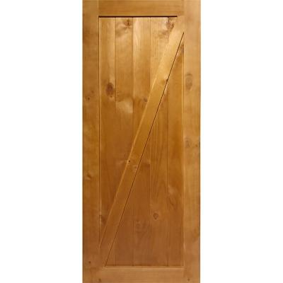 Puerta de pino barn door 80x200cm color roble