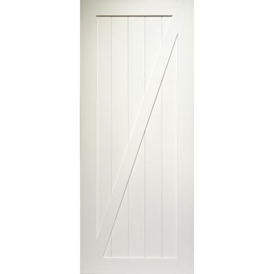 Puerta de pino barn door 80x200 cm color blanco