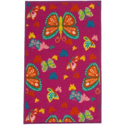 Alfombra Mariposas 50x80 cm multicolor