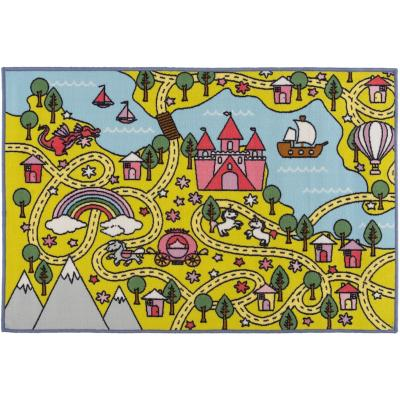 Alfombra Castillo Princesa 80x120 cm multicolor