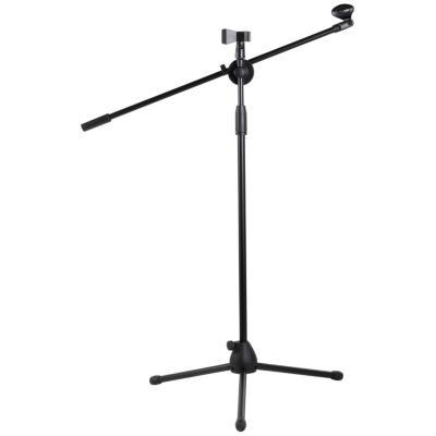Pedestal para micrófono con boom negro