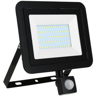 Reflector 50 W luz fria negro con sensor