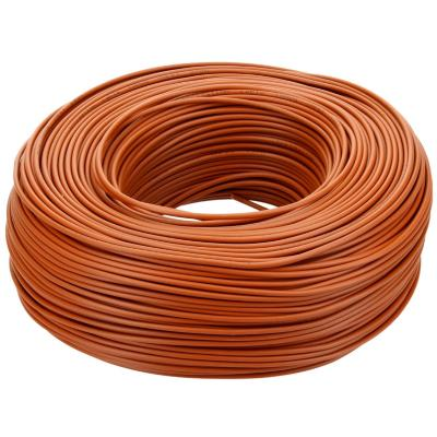 Cable riego 18 awg cafe por metro rollo 200m