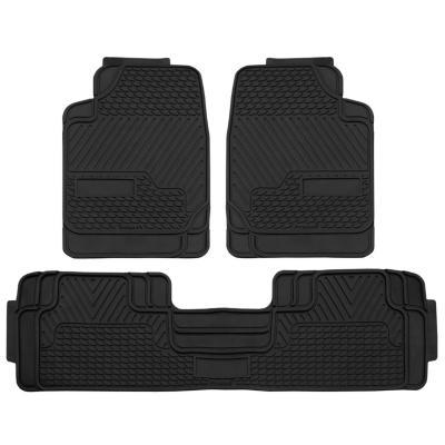 Pisos de goma Automóvil/set 3 piezas negro