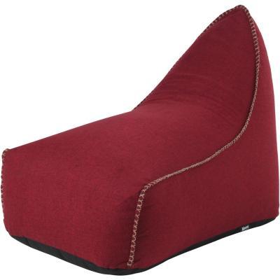 Sillón Pouf lounge + pouf rojo