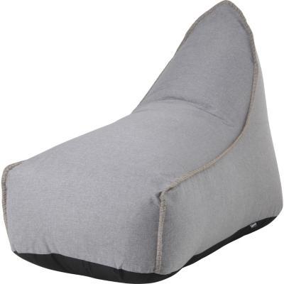 Sillón Pouf lounge + pouf gris