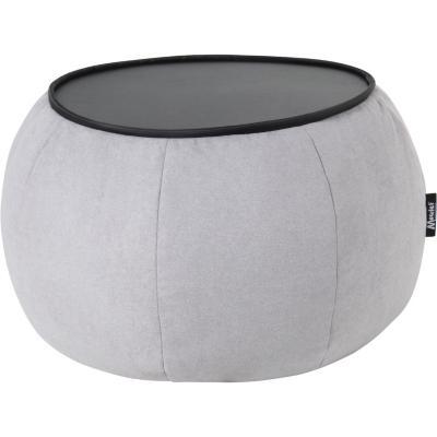 Mesa pouf 82x82x42 cm gris