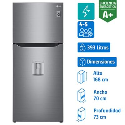 Refrigerador no frost top mount freezer 393 litros silver