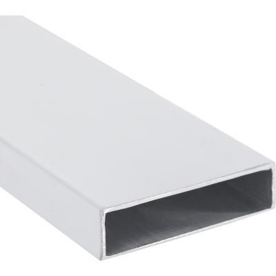 Tubular Regla Aluminio 75x25x1 mm Blanco  3 m