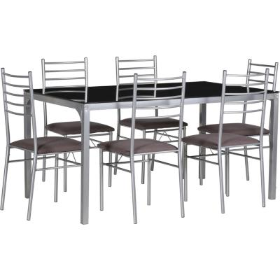 Set comedor mesa vidrio 6 sillas