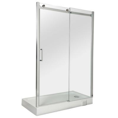 Mampara recepción puerta izquierda fija 140x190 cm