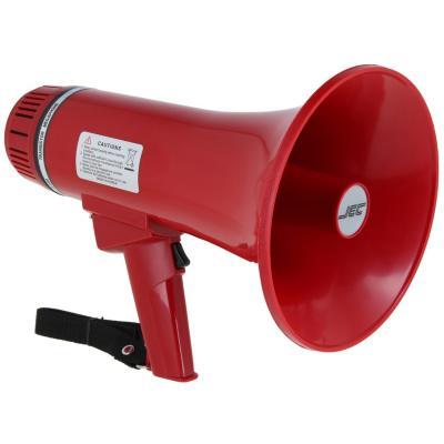 Megáfono 10 w con sirena y silbato