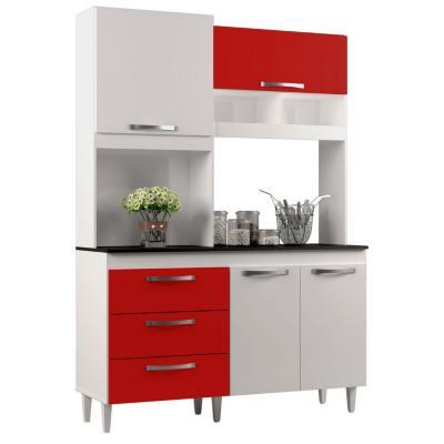 Kit cocina pilar 135x195x47cm rojo