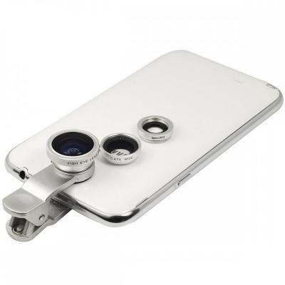 Lente clip ojos de pez para celular