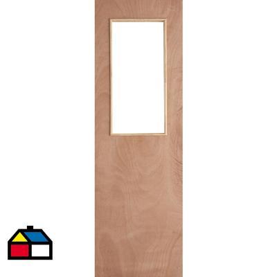 Puerta Terciado 1/2 cuerpo 65 x 200cm sin vidrio