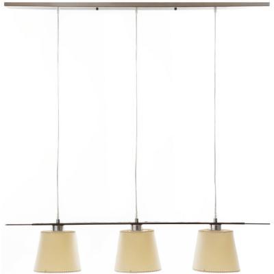 Lámpara de colgar Acero Pletina Cromo 3L Transparente