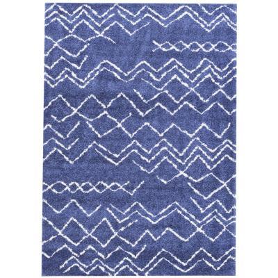 Alfombra shaggy Jacinta 160x230 cm azul