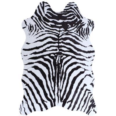 Alfombra animal cebra 110x140 cm negro