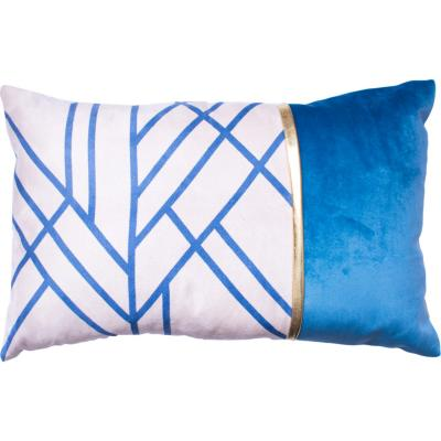 Cojín Líneas azul 50x33 cm