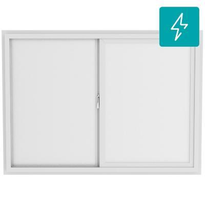 Ventana termopanel Low-E stipolite PVC americano klassik 70x50 blanco corredera