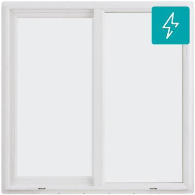 Ventana termopanel Low-E PVC americano klassik 100x100 blanco corredera